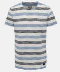 Bílo-modré pruhované tričko Blend
