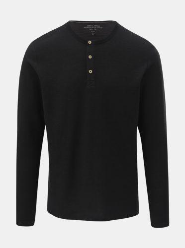 Černé pruhované basic tričko Jack & Jones Joseph