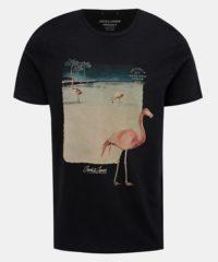 Černé tričko s potiskem Jack & Jones Traveller
