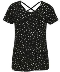 Černé tričko s potiskem ONLY Bera