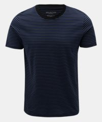 Černo-modré pruhované basic tričko Selected Homme Perfect
