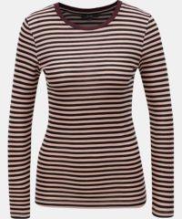 Černo-růžové pruhované basic tričko VERO MODA Ita