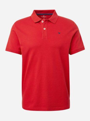 Červené pánské basic polo tričko Tom Tailor