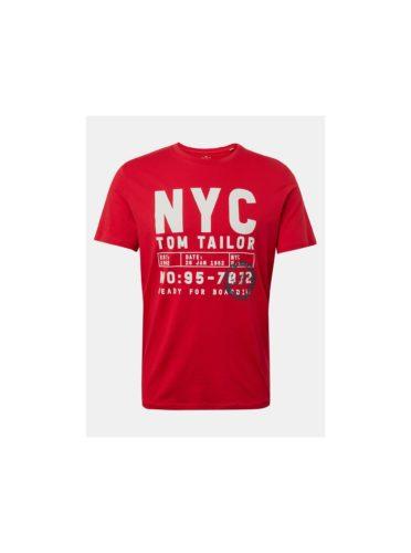 Červené pánské tričko s potiskem Tom Tailor
