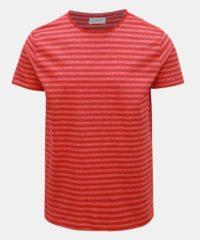 Červené pruhované basic tričko Lindbergh