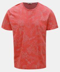 Červené vzorované tričko ONLY & SONS Pecos