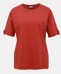 Cihlové tričko Jacqueline de Yong Lucky