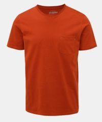 Hnědé slim fit tričko s kapsou Jack & Jones Pocket