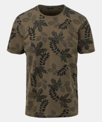 Khaki vzorované tričko ONLY & SONS Angus