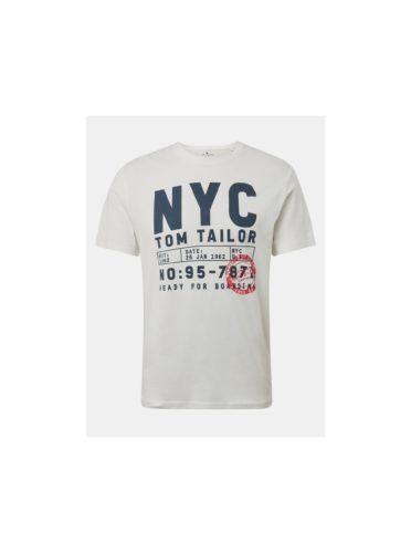 Krémové pánské tričko s potiskem Tom Tailor