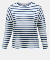 Krémové pruhované basic tričko ONLY CARMAKOMA Monako