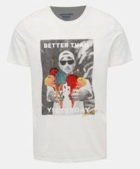 Krémové tričko s potiskem Jack & Jones Fabian