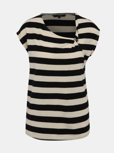 Krémovo-černé pruhované tričko VERO MODA Ashlee