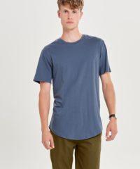 Modré dlouhé basic tričko ONLY & SONS Matt