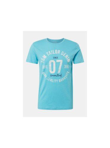 Modré pánské tričko s potiskem Tom Tailor Denim