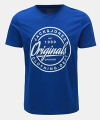 Modré slim fit tričko s potiskem Jack & Jones Rart Tender