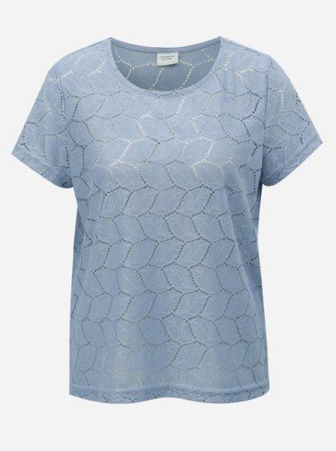 Modré tričko s děrovaným vzorem Jacqueline de Yong Tag