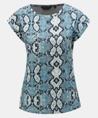 Modré tričko s hadím vzorem Dorothy Perkins
