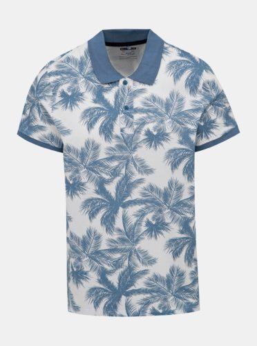 Modro-bílé vzorované polo tričko Blend