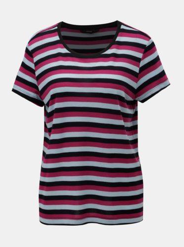 Modro-růžové pruhované basic tričko s krátkým rukávem VERO MODA Vita