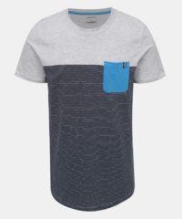 Modro-šedé pruhované tričko Jack & Jones Sect
