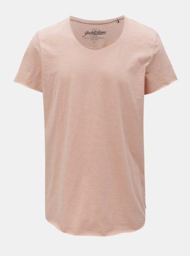 Růžové basic tričko Jack & Jones Bas