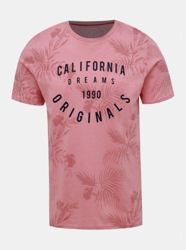 Růžové vzorované tričko Jack & Jones Fun