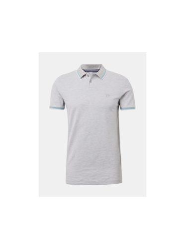 Šedé pánské polo tričko Tom Tailor Denim