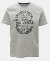 Šedé pánské žíhané tričko Tom Tailor