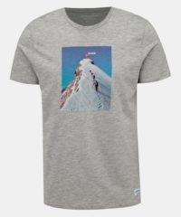 Šedé tričko s potiskem Jack & Jones Renzu