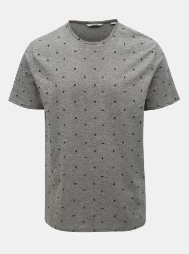 Šedé vzorované tričko ONLY & SONS Lang
