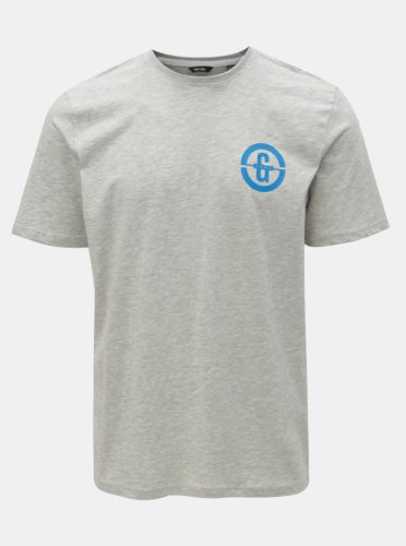 Šedé žíhané tričko s potiskem ONLY & SONS Edward