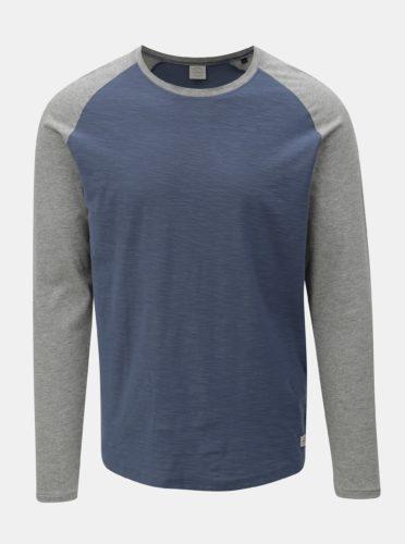 Šedo-modré pánské basic tričko Jack & Jones