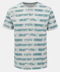 Šedo-zelené pruhované tričko ONLY & SONS Patrik