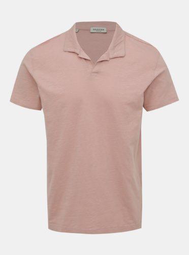 Starorůžové basic polo tričko Selected Homme Fillipe