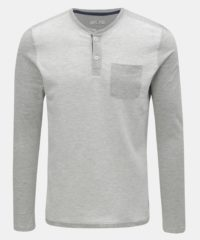 Světle šedé pánské žíhané tričko s kapsou Tom Tailor