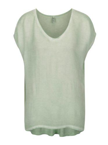Světle zelené basic tričko Blendshe Jin