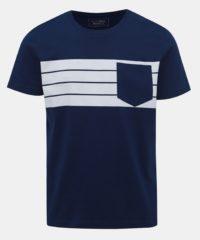 Tmavě modré pánské tričko s kapsou Tom Tailor Denim