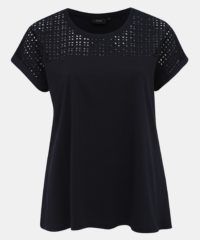 Tmavě modré tričko s madeirou Zizzi Isa