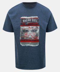 Tmavě modré tričko s potiskem Raging Bull
