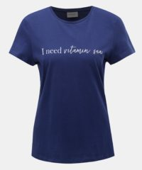 Tmavě modré tričko s potiskem VERO MODA Hedin