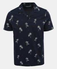 Tmavě modré vzorované polo tričko Jack & Jones Perry