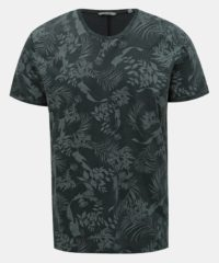 Tmavě šedé vzorované tričko ONLY & SONS Pecos