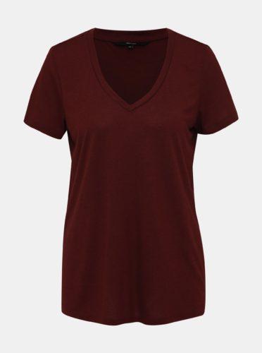 Vínové basic tričko VERO MODA Spicy