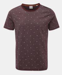 Vínové vzorované tričko Jack & Jones Hex