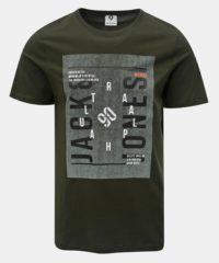 Zelené tričko s potiskem Jack & Jones Denim