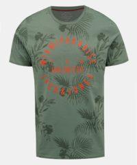 Zelené vzorované tričko Jack & Jones Fun