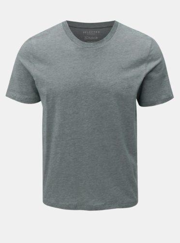 Zelené žíhané basic tričko Selected Homme Perfect