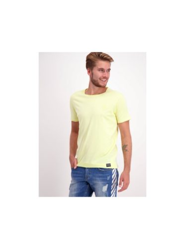 Žluté basic tričko s nášivkou Shine Original