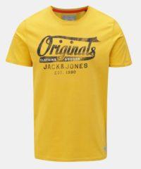 Žluté tričko s potiskem Jack & Jones Fara Tee